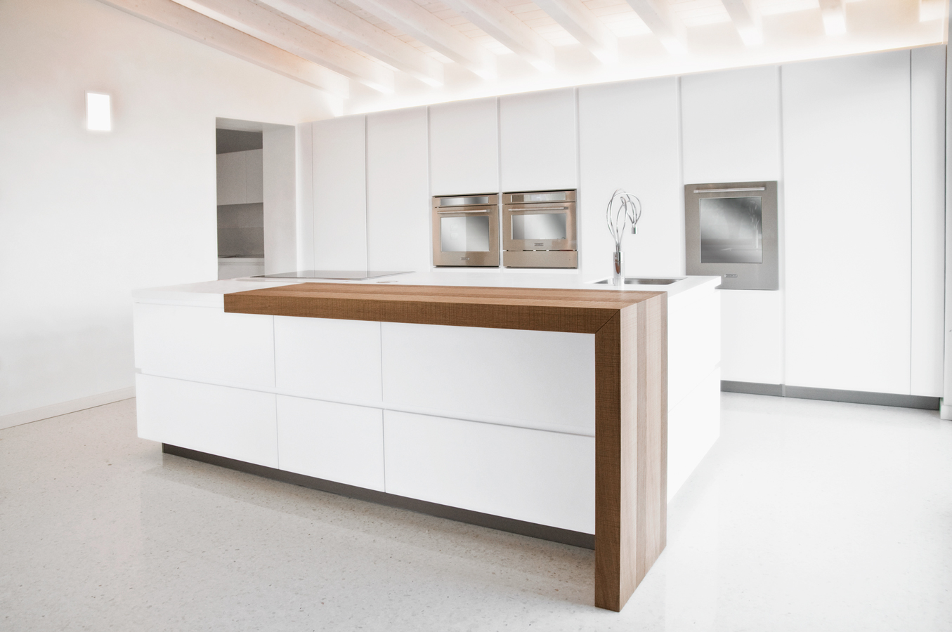 Thank You For Sharing Our Project! #61442D 1355 900 Cucine Moderne Con Piano Snack